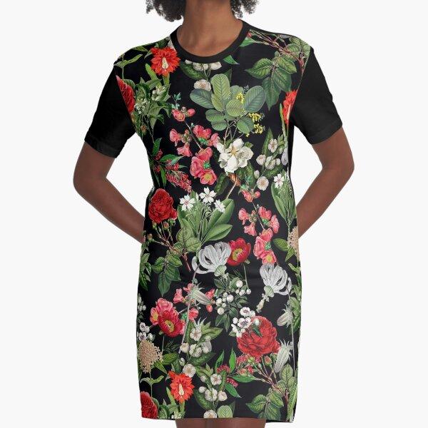 Botanical Garden Graphic T-Shirt Dress