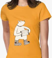 woodland folks - bear Womens Fitted T-Shirt