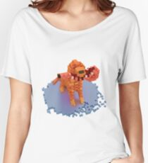 Voxel dog with ham Women's Relaxed Fit T-Shirt