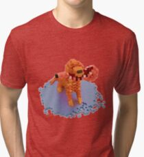 Voxel dog with ham Tri-blend T-Shirt
