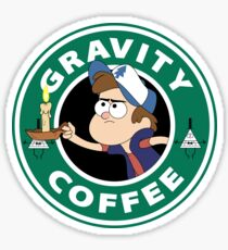 Gravity Dipper Coffee Sticker