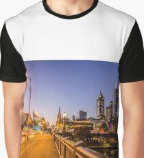 Melbourne from Princess Bridge, Victoria, Australia. Graphic T-Shirt