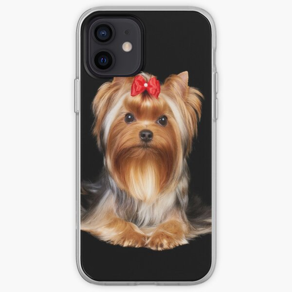 Yorkie with bow iPhone Soft Case