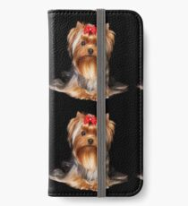 Yorkie with bow iPhone Wallet/Case/Skin