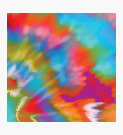 Tie Dye Colour Burst Photographic Print