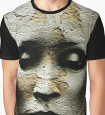 ANCIENT WOMAN BURIED IN STONE Graphic T-Shirt