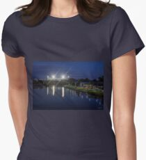 The MCG from Princess Bridge, Melbourne, Victoria, Australia. Womens Fitted T-Shirt