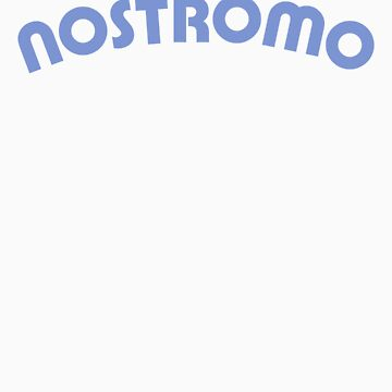 Nostromo back lettering from Alien (clean version) by Pango