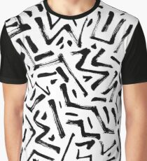 Abstract dry ink texture pattern Graphic T-Shirt