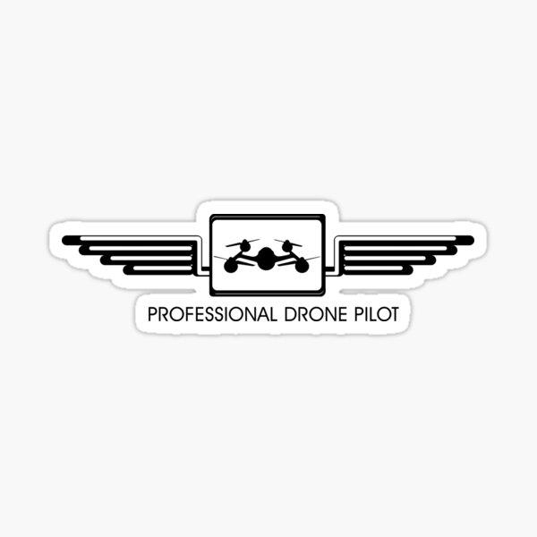 Piloto profesional de drones Pegatina
