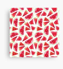 Watercolor watermelon slices  Canvas Print