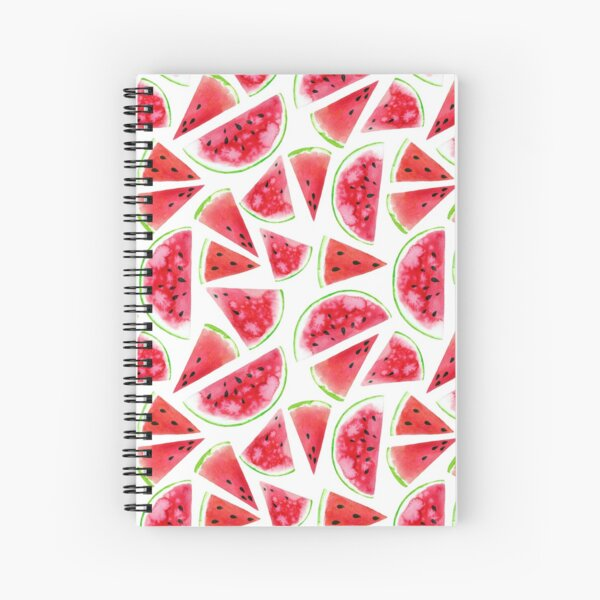 Watercolor watermelon slices  Spiral Notebook