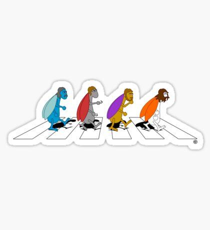 Beetles on Abbey Road Sticker