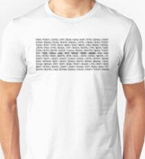 The Owls Are Not What They Seem Coded Message (Twin Peaks) T-Shirt