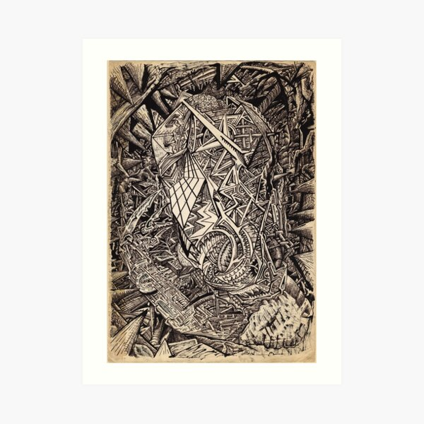 Diffracted (cavern dweller) by Brian Benson Art Print