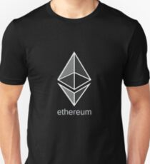 ethereum large dark Unisex T-Shirt