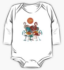 Flamingos One Piece - Long Sleeve