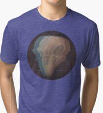 Avian Skull Glitch Tri-blend T-Shirt