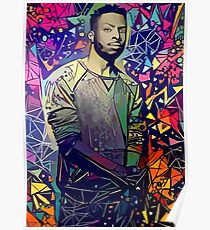 Abstract Isaiah Rashad Poster