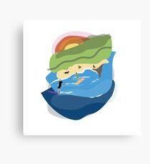 Sharkies Sunset Surf Canvas Print