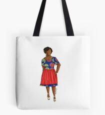 Malaka - African woman in ankara print with twists. Tote Bag