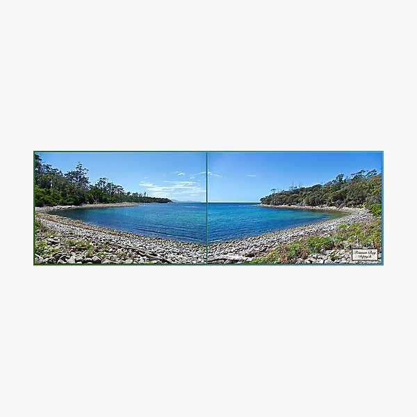 TASMAN OBELISK ~ D1G1TAL-M00DZ ~ Tasman Bay Diptych by tasmanianartist Photographic Print