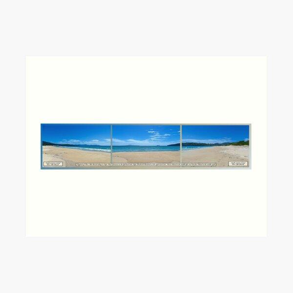 TASMAN OBELISK ~ D1G1TAL-M00DZ ~ Tryptich Two-Mile Beach by tasmanianartist Art Print