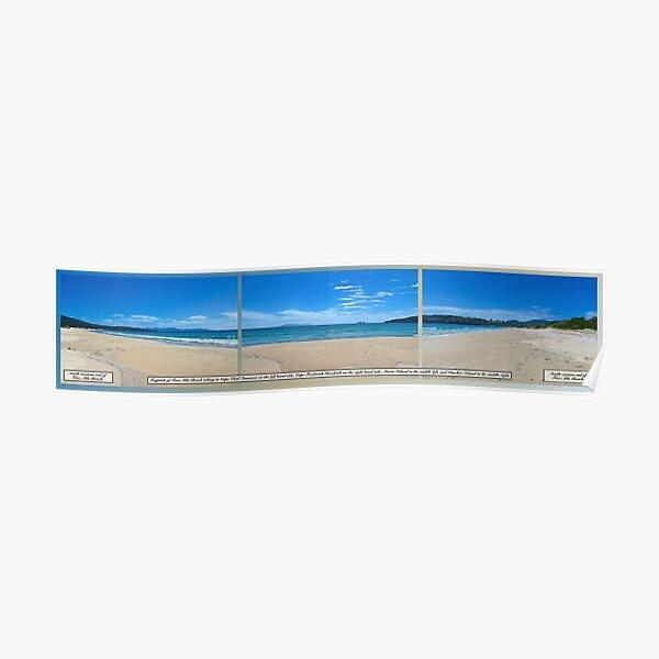 TASMAN OBELISK ~ D1G1TAL-M00DZ ~ Tryptich Two-Mile Beach by tasmanianartist Poster
