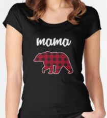Mama Bear Women's Fitted Scoop T-Shirt