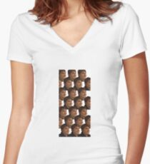 Whats better than one Louis Theroux face?.... Women's Fitted V-Neck T-Shirt