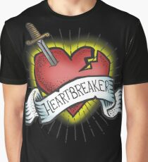 Heartbreaker Vintage Tattoo Design Graphic T-Shirt