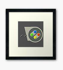 SNES Buttons Framed Print