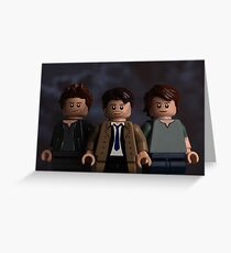 Dean, Castiel & Sam themed greetings card Greeting Card