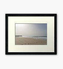 Silver Coast Winter Beach Framed Print