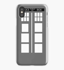 Police Public Phone Box, Who? Doctor! iPhone X Case