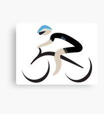 The Cyclist - Team Sky Canvas Print