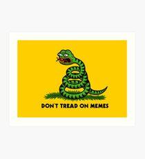 Don't Tread on Memes -Triggered Pepe- Art Print