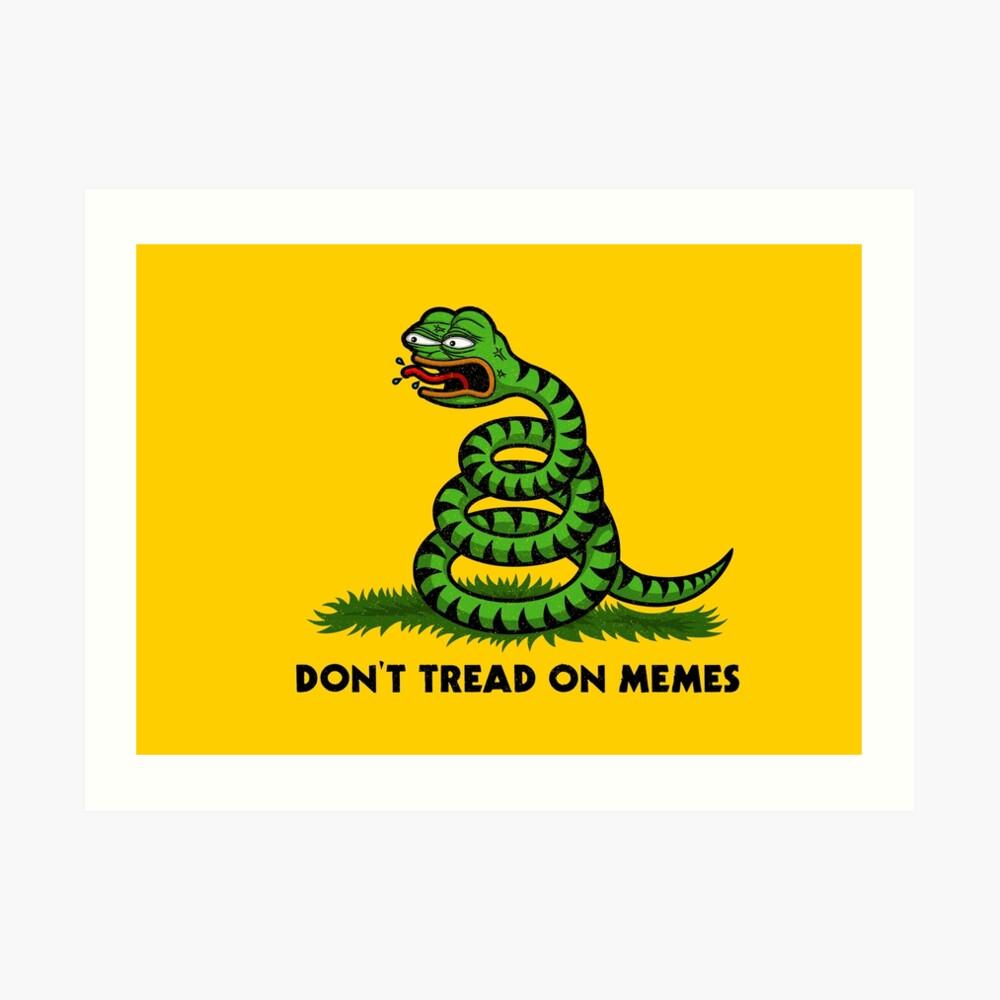 Treten Sie nicht auf Meme-Triggered Pepe- Kunstdruck