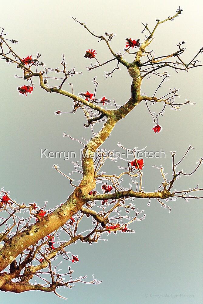 Blooming Red, Oriental Style by Kerryn Madsen-Pietsch