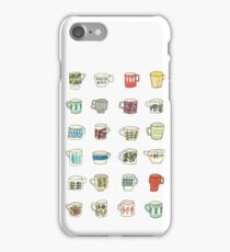 Mid Century Modern Mugs iPhone Case/Skin