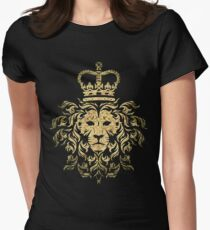 Vintage Magestic Lion Womens Fitted T-Shirt