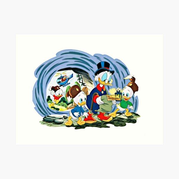 Ducktales, klassische Zeichentrickserie Kunstdruck