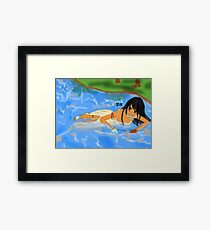 Shadow lake Framed Print
