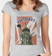 Dalek To victory Women's Fitted Scoop T-Shirt