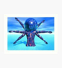 Alien Sculpture Art Print