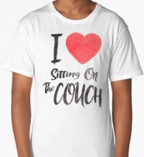 I Love Sitting On The Couch Long T-Shirt
