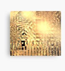 Warm Pyramid Grids Metal Print