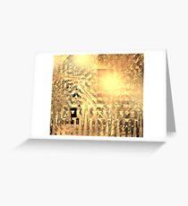 Warm Pyramid Grids Greeting Card