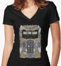 Time Lord fairy tales Women's Fitted V-Neck T-Shirt