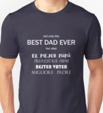 Father's Day - Best dad in 5 languages II T-Shirt